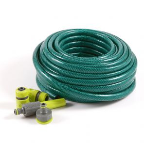 "Watering Set with -  3 Layer Garden Hose ECO 1/2"" 15m"